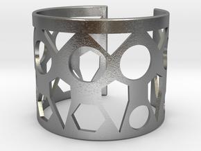 Cubic Bracelet Ø73 Mm Style A/Ø2.874 XL in Natural Silver