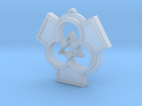 Architectural Pendant for a Patron of the Arts in Smooth Fine Detail Plastic