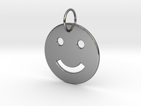 Smiley Pendant in Polished Silver