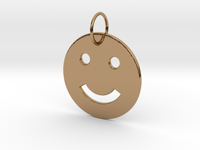 Smiley Pendant in Polished Brass