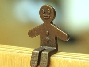 Gingerbread Man_Seated in 14K Yellow Gold