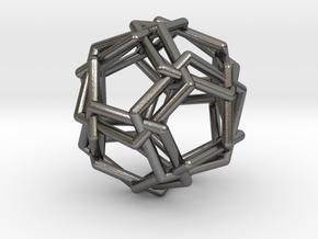 0460 Woven Icosidodecahedron (U24) in Polished Nickel Steel