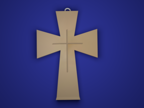 The Cross in 14k Gold Plated Brass