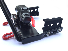 Bumper mount for MST CMX in Black Natural Versatile Plastic