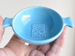 Quaich in Gloss Blue Porcelain