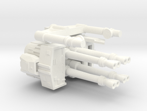 deAgo Laser Cannon V3  in White Strong & Flexible Polished
