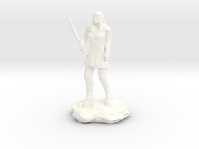 Amazon  Guard in Tunic with Sword in White Processed Versatile Plastic