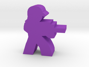 Game Piece, Hairtauri Trooper in Purple Strong & Flexible Polished