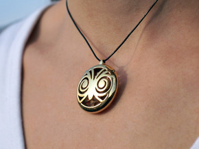 Hypno Owl Pendant in 18K Gold Plated