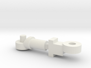 Frame Arms: Girl Midsection Joint Parts in White Natural Versatile Plastic
