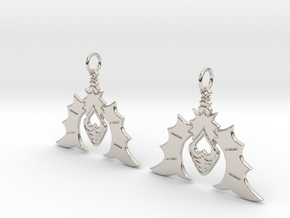 Batty For You Earrings in Rhodium Plated Brass