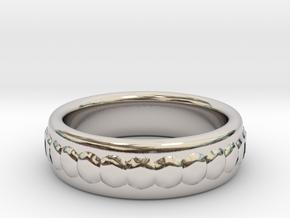 Gemstone Ring - US Size 9 in Rhodium Plated Brass