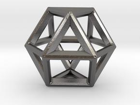 VECTOR EQUILIBRIUM FRAME in Polished Nickel Steel