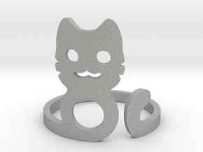 Meow Ring in Aluminum