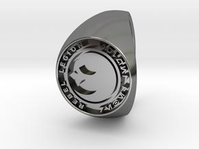 Custom Signet Ring Rebel Legion Size 14.5 in Fine Detail Polished Silver
