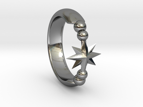 Ring of Star 14.1mm in Fine Detail Polished Silver