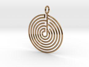 mystery little labyrinth Pendant in Polished Brass