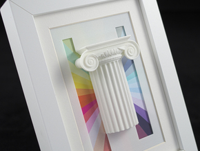 Ionic Capital Print 10-15 B in White Strong & Flexible Polished