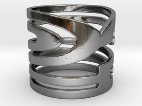 NUMBER 2 RING Size 7 in Fine Detail Polished Silver