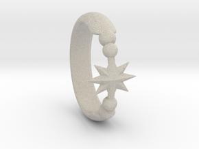 Ring of Star 14.5mm in Natural Sandstone