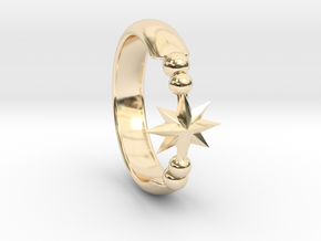 Ring of Star 15.3mm in 14K Yellow Gold