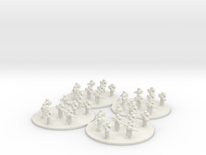 Sci Fi Infantry Platoon (based) 6mm SFP in White Natural Versatile Plastic