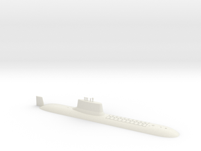 1/600 Typhoon Class SSBN (Waterline) in White Natural Versatile Plastic