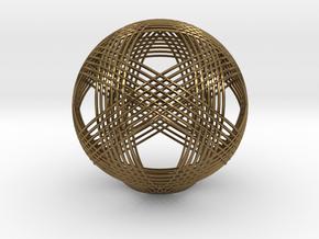 Icosahedron vertex symmetry weave 2 in Polished Bronze