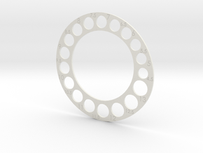 Ring Gauge Usa in White Natural Versatile Plastic