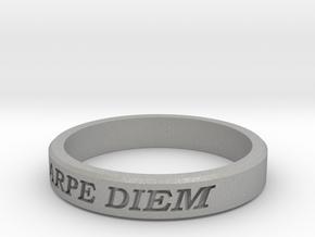 Carpe Diem US Size 10 Ring in Aluminum