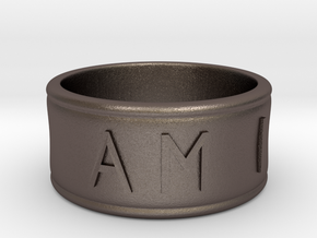 I AM  | AM I Ring - Size 6 in Polished Bronzed Silver Steel
