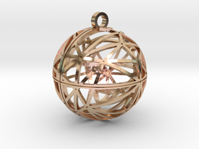 Craters of Ganymede Pendant in 14k Rose Gold