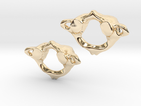 C1 Atlas Anatomical Earrings in 14k Gold Plated Brass
