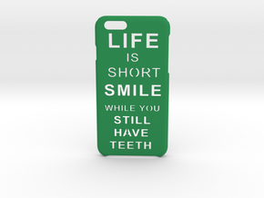 LifeIsShort iPhone 6 6s case in Green Processed Versatile Plastic