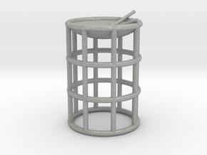 Tenor Bass wireframe steelpan pendant/keyring in Aluminum