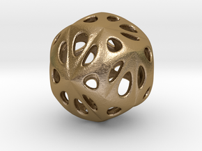 hydrangea ball 04 in Polished Gold Steel