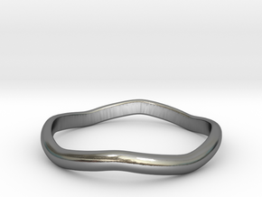 Ring Weaved Shape Design Size 6.5 in Polished Silver