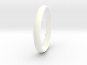 Ring Size 5.5 Design 3 in White Processed Versatile Plastic