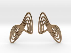 WAVE Earrings (1 Pair) in Natural Brass
