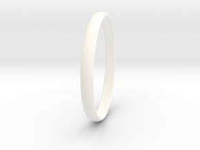 Ring Size 9.5 Design 3 in White Processed Versatile Plastic