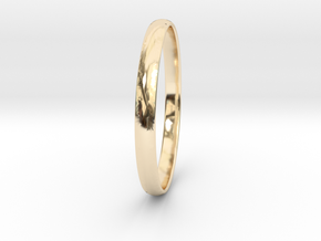 Ring Size 10.5 Design 3 in 14k Gold Plated Brass
