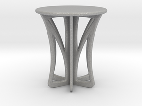 Rocking stool miniature in Aluminum