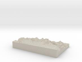 Model of The Inferno in Sandstone