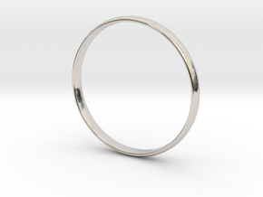Ring Size 12.5 Design 3 in Rhodium Plated Brass