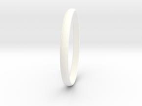 Ring Size 13 Design 3 in White Processed Versatile Plastic