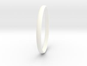 Ring Size 11 Design 4 in White Processed Versatile Plastic