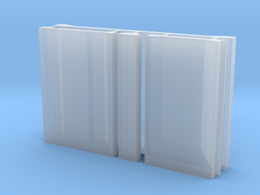 SciFi Pillar and Walls - Basic Wall Set in Smooth Fine Detail Plastic