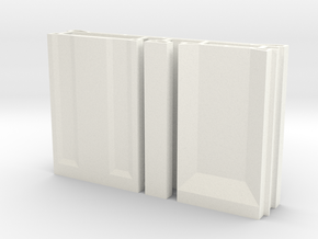 SciFi Pillar And Walls - Basic Wall Set Hollow in White Processed Versatile Plastic