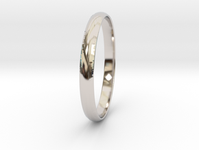 Ring Size 8.5 Design 4 in Rhodium Plated Brass