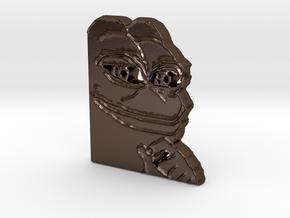 Pepe Pendant in Polished Bronze Steel